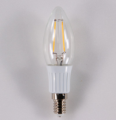 LED Filament Candle bulb YL-BL02W-2COBG